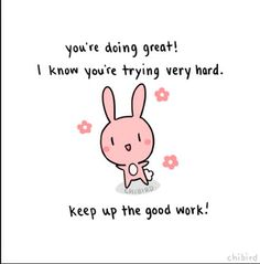 positive bunny post :-)