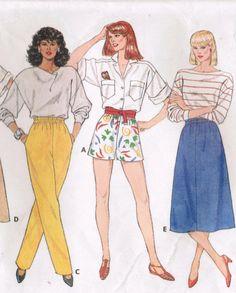 1980s Butterick 3068 Vintage Sewing Pattern by midvalecottage