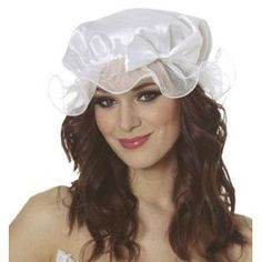 Need one of these for my Miss Muffet costume. Wonder if I could simply attach some lace to a white shower cap, and wear that?