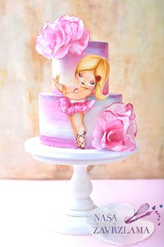 Cute Ballerina Cake - cake by Nasa Mala Zavrzlama - CakesDecor Birthday Cakes Girls Kids, Cool Birthday Cakes, Birthday Parties, Ballerina Cakes, Ballerina Birthday, Cake Decorating With Fondant, Birthday Cake Decorating, Fun Cupcakes, Cupcake Cakes