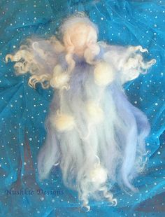 Winter Fairy - Waldorf Inspired Needle Felted  by Nushkie Design, via Flickr