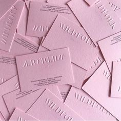 A little goes a long way 🌸 Beautiful minimalism with a blind emboss on Colorplan Candy Pink and Indigo black on the back for the… Embossed Business Cards, Business Card Design, Minimal Business Card, Letterpress Business Cards, Black Business Card, Stationery Design, Branding Design, Logo Design, Corporate Design