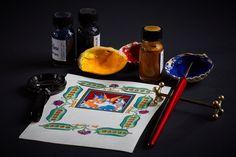 Calligraphy and illumination photography.