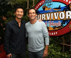 Survivor Cook Islands, Yul (winner) and Jeff probst
