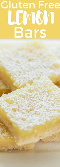 Gluten and Dairy Free Lemon Bars with the best shortbread base ever!
