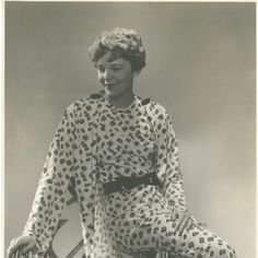 Amelia Earhart in one of the dresses she designed, ca. February 1934..possibly the best picture I've seen of her...