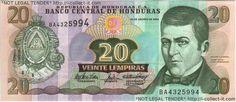 Honduras Money | StampsCoinsNotes : View Banknote - Honduras 20 Lempira 2004