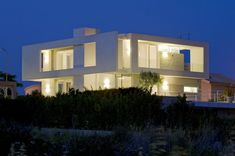 """CASA LS is a project designed by Architrend Architecture and is located in Ragusa, Italy. Photography by Moreno Maggi. """"The villa has developed by play of surfaces and walls, which are coming out from the main body of the building. The street facade has projected by frames which are presenting the border of the first …"""