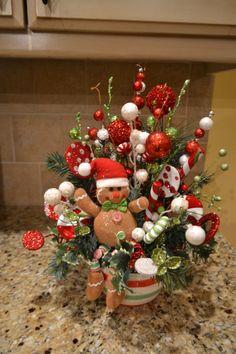Gingerbread Man Arrangement by kristenscreations on Etsy
