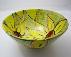 Majolica Pottery Bowl Earthenware Clay by ClayLickCreekPottery, $35.00