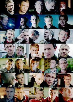 The many faces of John Watson (aka One of the big reasons to love Martin Freeman)