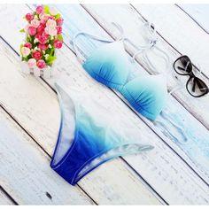 $18.50 (Buy here: https://alitems.com/g/1e8d114494ebda23ff8b16525dc3e8/?i=5&ulp=https%3A%2F%2Fwww.aliexpress.com%2Fitem%2F2016-New-Woman-Padding-Push-Up-Bikinis-Strappy-Tie-up-Bikini-Women-Halter-Swimwear-Swimsuit-Bathing%2F32703559549.html ) 2016 Rushed New Woman Padding Push Up Bikinis Strappy Tie Bikini Women Halter Swimwear Swimsuit Bathing Suit Sky Blue Gradient  for just $18.50