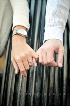 Engagement photo. Love this! We pinky promise!