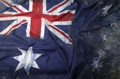 Australian flag recovered from the world trade centre site after the terrorist attacks in 2001
