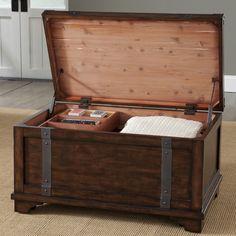 Campagna Storage Trunk Table #birchlane