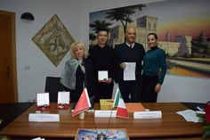 Marco Eugenio Di Giandomenico, Silvia Guaiana, Vanessa Galipoli and Cheng Yajie at the Academy of Fine arts KANDINSKIJ in Trapani (Dec. 4, 2017)