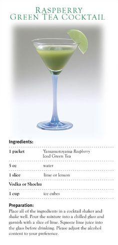 Raspberry Green Tea Cocktail