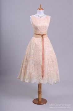 1950 Sabrina Lace Vintage Wedding Dress