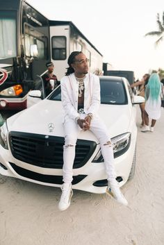 Men's Fashion Flash: Quavo, Offset, and Takeoff of the Migos Wear Rochambeau, Gucci, and Raf Simons for New Music Video with Sean Paul