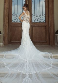 Galia Lahav Wedding Dress Collection 2014: The Empress Collection. What a beautiful train