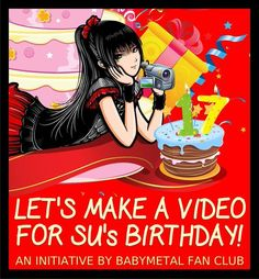 BABYMETAL FAN CLUB Wishes to SU-METAL Happy Birthday! ビデオ:ハッピーバースデーSU- METAL 。 BABYMETALファンクラブ