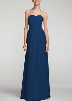 My bridesmaid's dresses! Figure flattering on curvy girls and David's bridal made pretty cap sleeves.