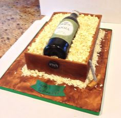 wine bottle cake   Wine Bottle Cake Wine Bottle Cake, Creative