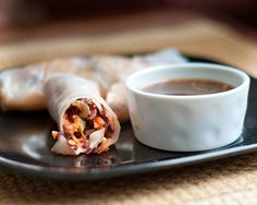 Radicchio Slaw Rice Rolls    1/2 head of radicchio, cut in half horizontally and thinly sliced  3 carrots, peeled and shredded  2 celery ribs, very thinly sliced  1/4 white onion, finely chopped    Tahini Dressing (recipe follows)    Rice wrappers (I like using the large ones, 9-10