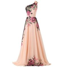 GRACE KARIN Bridesmaid Party Dress Vintage Evening Floral Prom... ($63) ❤ liked on Polyvore
