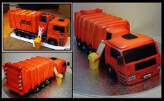 450550 LARGE GARBAGE TRUCK CREATIVE CAKE ART TRANSPORT CAKE