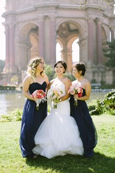 Donna Morgan bridesmaid dresses in Midnight // Carmen Holt Photography // www.donna-morgan.com