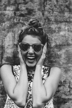 Free download of this photo: https://www.pexels.com/photo/woman-in-sunglasses-on-grey-scale-photo-65121 #black-and-white #person #woman