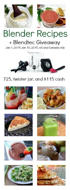 10 Delicious Blender Recipes a Blendtec Blender Giveaway! Blender Recipes, Smoothie Recipes, Yummy Drinks, Yummy Food, Friend Recipe, Recipe Filing, Money Saving Meals, Easy Healthy Recipes, Food And Drink