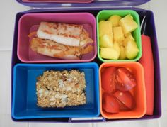 Bento Lunch: Melted Turkey and Cheese Cold Cut Roll-ups and more... #bento #bentobox #lunch #healthy #recipes