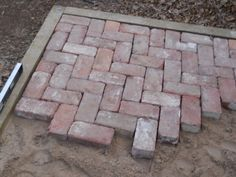 brick patio | tightly the bricks would fit next to each other i