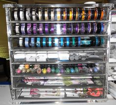 Little does The Container Store know that its acrylic jewelry chest is the perfect storage solution for Twinkling H2Os and other artsy supplies!