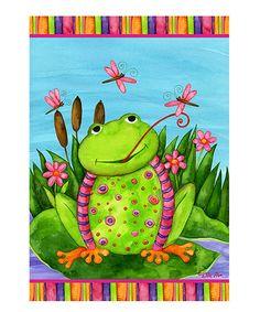 This Spring Frog Garden Flag is perfect! #zulilyfinds