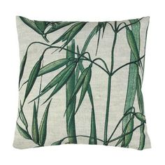 HK Living Bamboo Leaves Tropical Print Cushion: Get tropical with our stunning printed scatter cushions. Featuring bamboo leaves print one side and plain off white other side. Blue Cushions, Printed Cushions, Velvet Cushions, Scatter Cushions, Throw Pillows, Bamboo Palm, Bamboo Leaves, Blue Cushion Covers, Cushion Pads