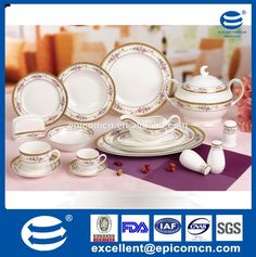 2015 new bone china tablewares 86pcs dinnerware sets french style dinner set tableware fine china dinner sets