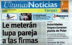 Últimas Noticias Vargas martes 3 de mayo de  2016