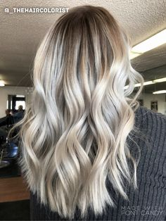 Rooted blonde - ash tones