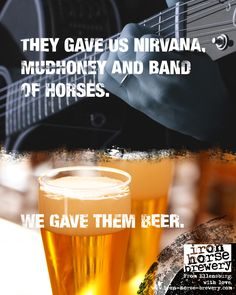 Seattle gave us great music. Ellensburg gave us great beer. Kind of a fair trade.