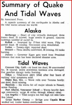 193 Best Alaska Earthquake 3 27 1964 Lived in Kodiak then images