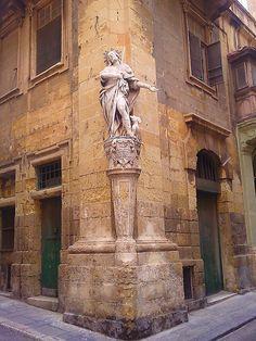 Religious sculpture in Valletta, Malta │ #VisitMalta visitmalta.com