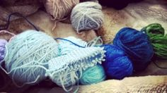 Winter hues #winterfashion #knittersofinstagram #knitting #woolen #blues #green #pastime