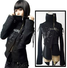I love this jacket. Edgy. with different layers. Looks comfy. -DH