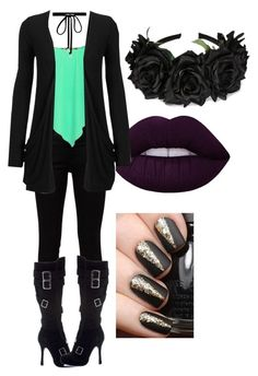 """Untitled #1910"" by forever-ur-sickest-hoe ❤ liked on Polyvore featuring Yves Saint Laurent, Pilot, NYX and Joomi Lim"