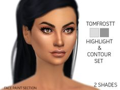 Created By tomfrostt Created for: The Sims 4 • Party Duo Eyeshadows 2 eyeshadows in a pale rose gold and a gold colour for you to enjoy. .Custom CAS Thumbnail .Teen, Young Adult, Adult,...
