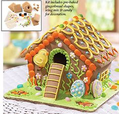 Easter gingerbread house,  just in case you have nothing to do after Christmas!!!!!