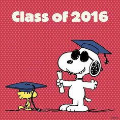 Congratulations, class of Snoopy, May 2016 Peanuts Movie, Peanuts Cartoon, Cartoon Tv, Peanuts Snoopy, Cartoon Characters, Fictional Characters, Snoopy Love, Charlie Brown And Snoopy, Snoopy And Woodstock